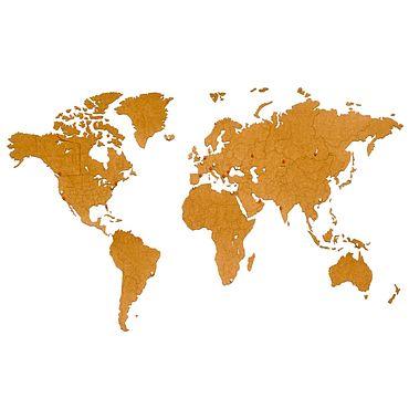 Diseño y publicidad manualidades. Livemaster - hecho a mano Mapa del mundo decoración de la pared 180h108cm Marrón. Handmade.