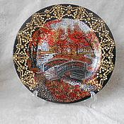 Для дома и интерьера ручной работы. Ярмарка Мастеров - ручная работа декоративные тарелки-пейзажи. Handmade.