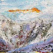"""Картины и панно ручной работы. Ярмарка Мастеров - ручная работа Картина маслом """"Свет в горах"""". Handmade."""