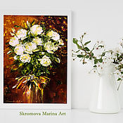 Картины и панно handmade. Livemaster - original item Oil painting of the Jubilee of the rose. Handmade.
