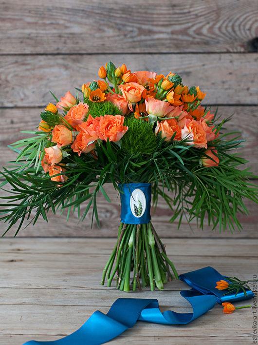 Свадебные цветы ручной работы. Ярмарка Мастеров - ручная работа. Купить Букет невесты / Яркий свадебный букет. Handmade.