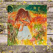 Картины и панно handmade. Livemaster - original item Sanny Mama - painting on paper. Handmade.