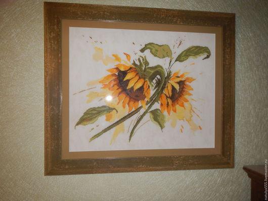 Картины цветов ручной работы. Ярмарка Мастеров - ручная работа. Купить Подсолнухи. Handmade. Желтый, качество, дерево, дерево