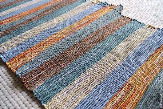 Текстиль, ковры ручной работы. Ярмарка Мастеров - ручная работа. Купить Половик ручного ткачества (№ 66). Handmade. Оранжевый