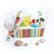 Работы для детей, ручной работы. Ярмарка Мастеров - ручная работа Комплект для девочки (сумочка и панамка). Handmade.
