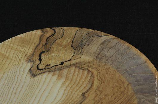 Тарелки ручной работы. Ярмарка Мастеров - ручная работа. Купить Тарелка из дерева. Ясень. Handmade. Дерево, посуда из дерева, масло
