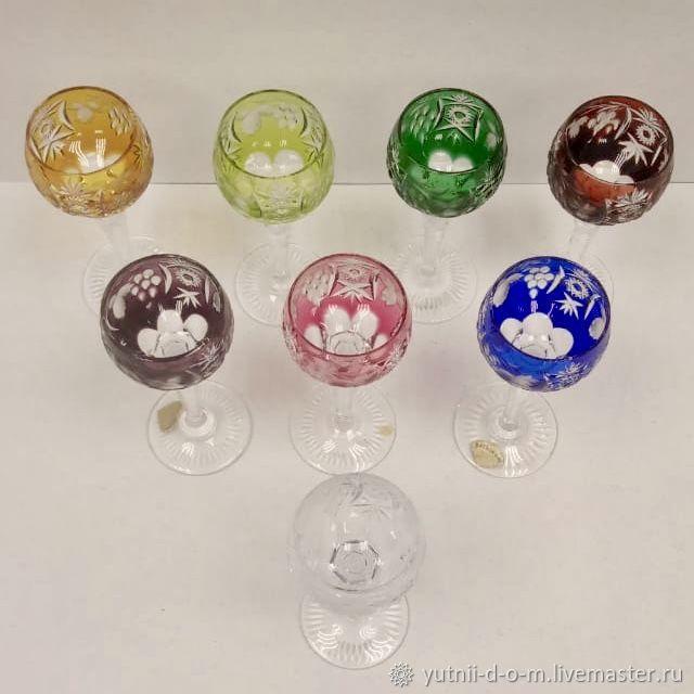 Glasses 14 cm vodka liqueur grapes colored crystal Nachtmann Nachtmann, Vintage glasses, Moscow,  Фото №1