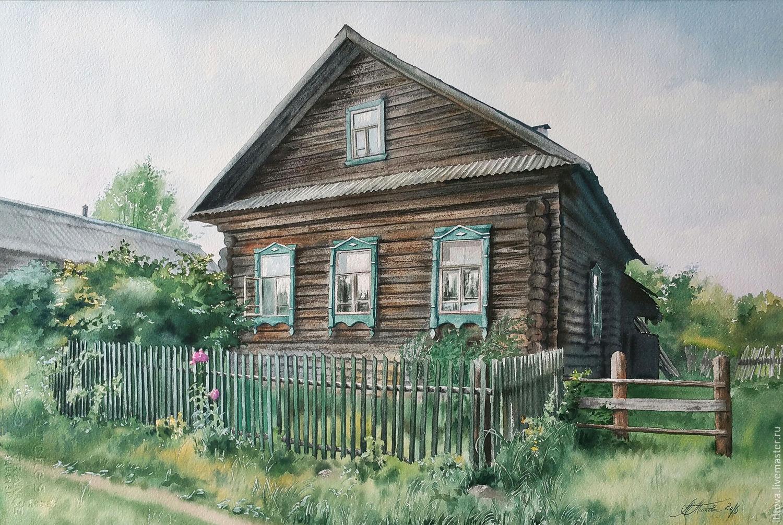 Русский деревенский дом картинки