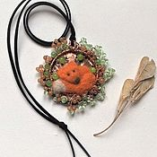 Pendants handmade. Livemaster - original item Fox in the hole.Pendant. Handmade.