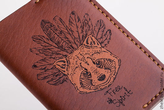 Обложки ручной работы. Ярмарка Мастеров - ручная работа. Купить Обложка для паспорта с Вашим изображением.. Handmade. Бежевый, обложка из кожи