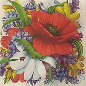 Материалы для творчества ручной работы. Ярмарка Мастеров - ручная работа Салфетка для декупажа - цветы яркие, сочные, летние красивые. Handmade.
