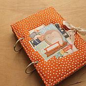 Подарки к праздникам handmade. Livemaster - original item The orange album-the diary. Handmade.