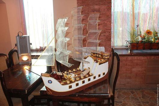 Подарки для мужчин, ручной работы. Ярмарка Мастеров - ручная работа. Купить Корабль из конфет. Handmade. Корабль из конфет, подарок мужчине