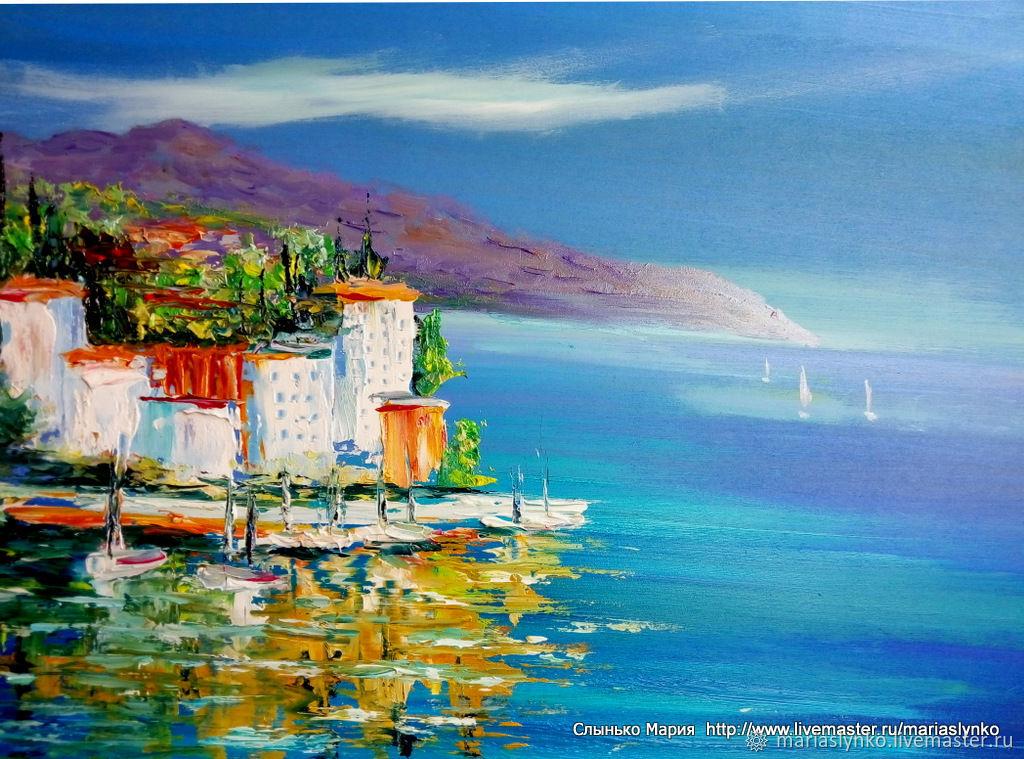 Seascape. The Mediterranean coast.
