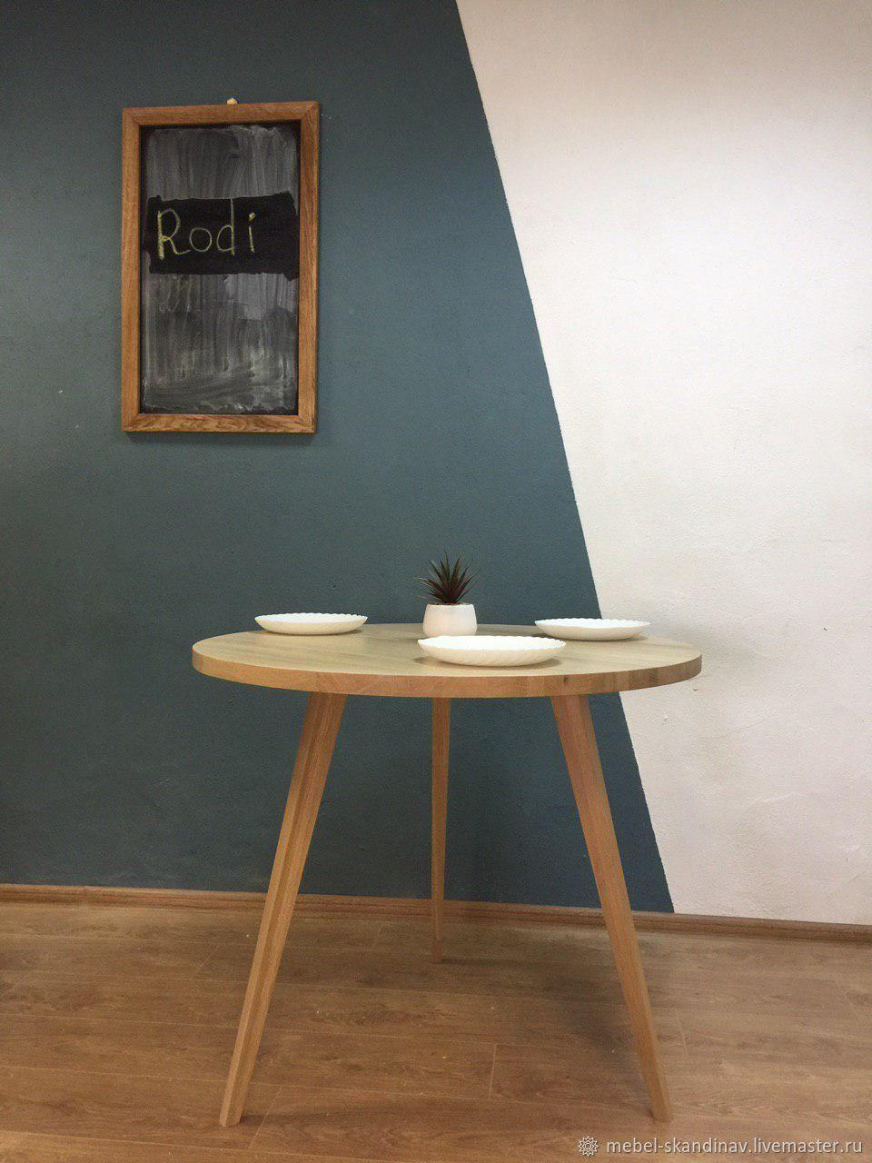 Круглый обеденный стол из массива дуба Rod, Столы, Санкт-Петербург,  Фото №1