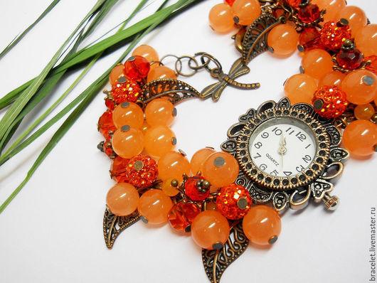 """Часы ручной работы. Ярмарка Мастеров - ручная работа. Купить Часы наручные женские """"Карамель"""".. Handmade. Часы"""