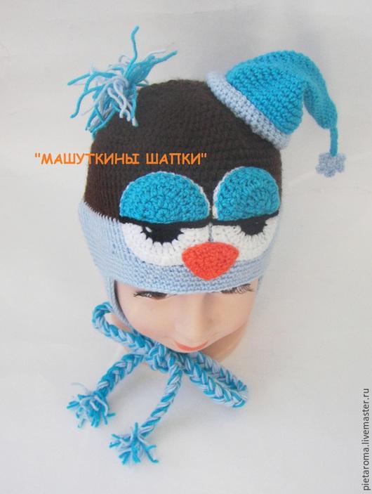"""Шапки ручной работы. Ярмарка Мастеров - ручная работа. Купить Шапка""""Сонный птенчик"""". Handmade. Разноцветный, зверошапка, шапка для мальчика, шапочка"""