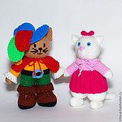 """Куклы и игрушки ручной работы. Ярмарка Мастеров - ручная работа вязаные игрушки """"Кот в сапогах и кошечка"""". Handmade."""