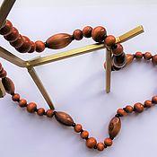 Винтаж handmade. Livemaster - original item Vintage necklaces: the wooden beads. Handmade.