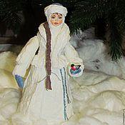 Куклы и игрушки ручной работы. Ярмарка Мастеров - ручная работа Снегурочка - большая под ёлочку, из ваты. Handmade.