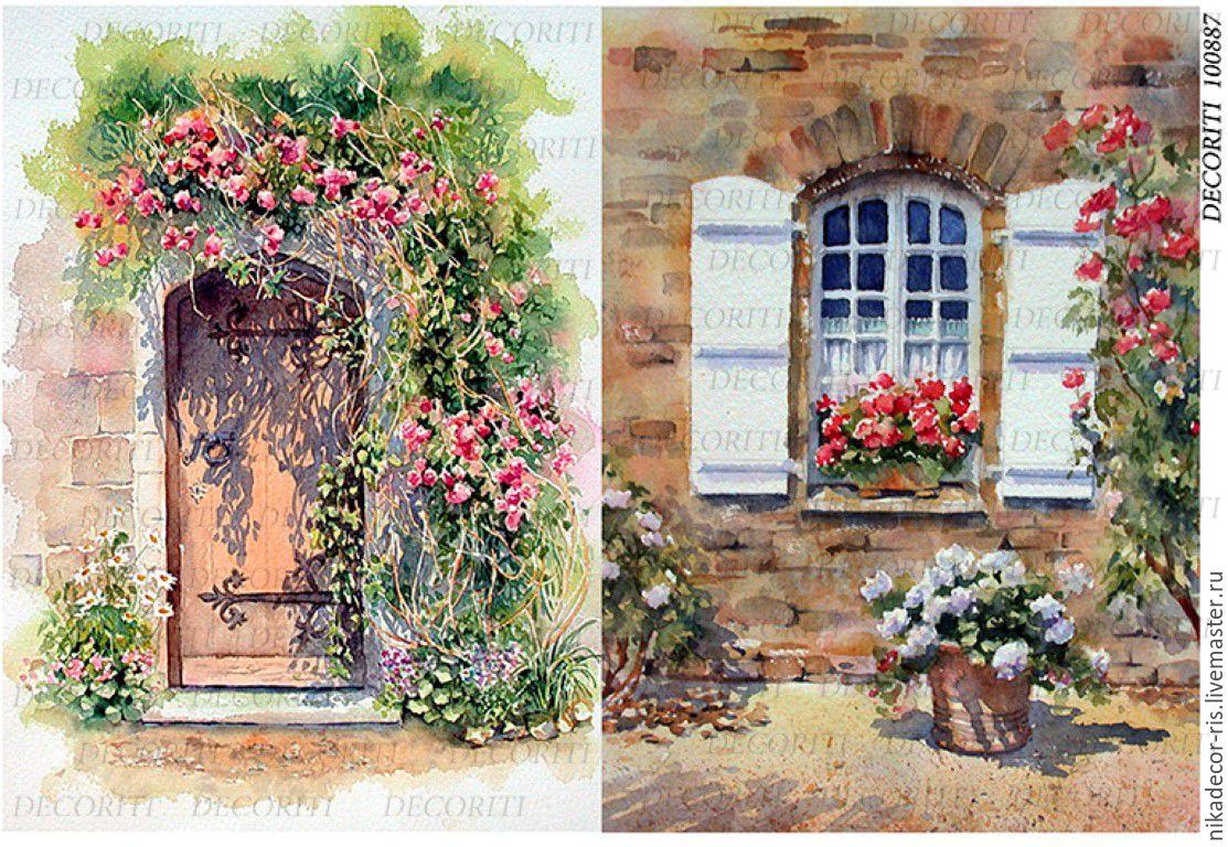 Картинки для декупажа окна двери балконы.