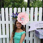 Аксессуары ручной работы. Ярмарка Мастеров - ручная работа шляпка-цветок. Handmade.