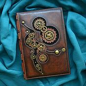 "Канцелярские товары handmade. Livemaster - original item Leather notebook ""STEAMPUNK"". Handmade."