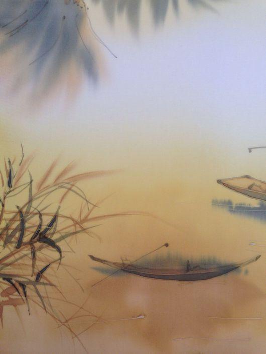 """Пейзаж ручной работы. Ярмарка Мастеров - ручная работа. Купить Картина батик  """"Китайский пейзаж"""". Handmade. Картина для интерьера, painting"""