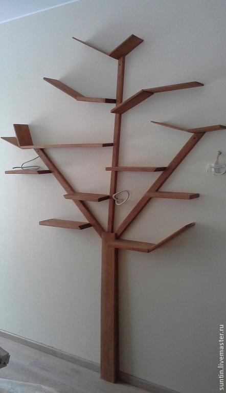 Настенная полочка в виде Дерева с ветвями полками.