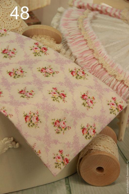 Куклы и игрушки ручной работы. Ярмарка Мастеров - ручная работа. Купить Ткань хлопок для кукольной одежды для кукол. Handmade. Белый