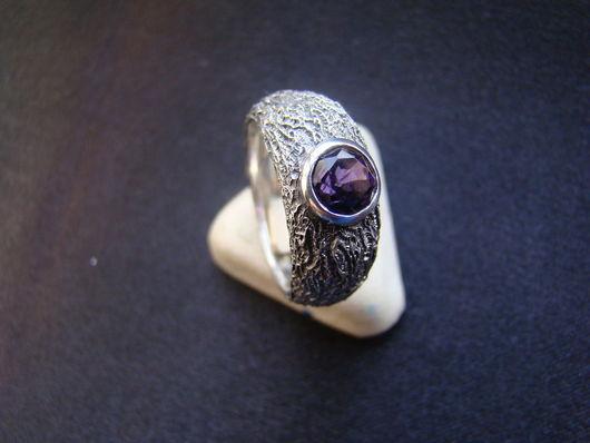 Кольца ручной работы. Ярмарка Мастеров - ручная работа. Купить Кольцо с аметистом (малое). Handmade. Аметист, серебро