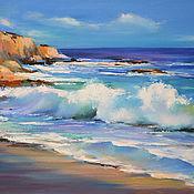 Картины и панно handmade. Livemaster - original item Oil painting Sea on canvas 50/70 cm. Handmade.