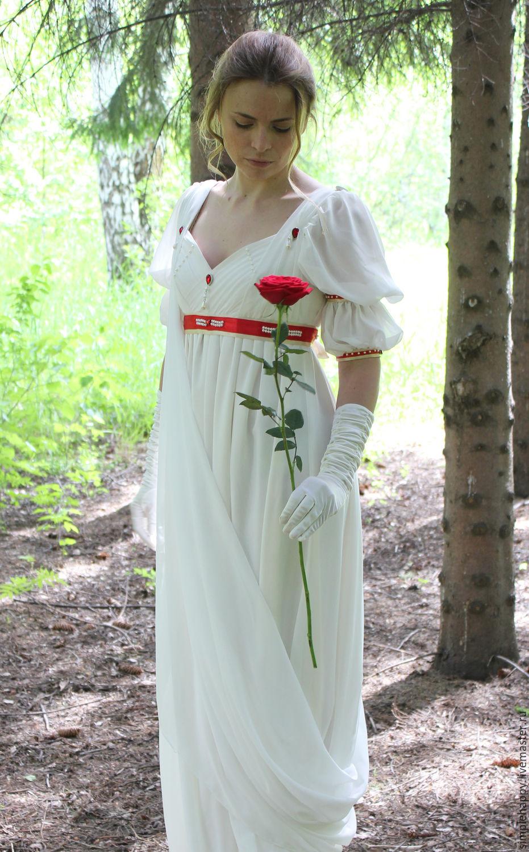 Историческое ампирное платье со шлейфом, Платья, Новосибирск, Фото №1