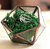 Свадебный салон handmade. Livemaster - original item Glass casket. Copper jewelry box for rings. Handmade.