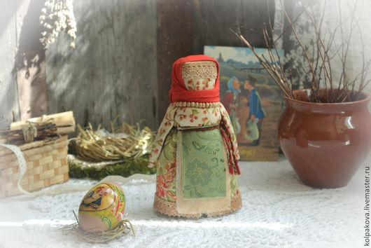 """Народные куклы ручной работы. Ярмарка Мастеров - ручная работа. Купить куколка Пасхальная""""Воскресный день"""".. Handmade. Ярко-красный"""