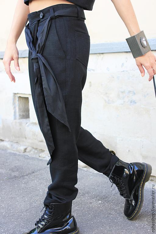 276492ea1a10a5 ... R00012 Брюки черные брюки модные брюки дизайнерские брюки женская  одежда свободные брюки стильные брюки шерстяные брюки ...