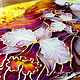 """Фантазийные сюжеты ручной работы. Картина на стекле """"Орхидея - Королева бала!"""". Екатерина. Интернет-магазин Ярмарка Мастеров. Картина в подарок"""