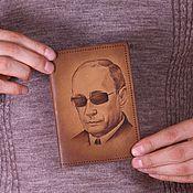 """Сувениры и подарки ручной работы. Ярмарка Мастеров - ручная работа Обложка на паспорт """"Путин"""". Handmade."""