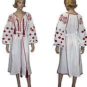 Одежда ручной работы. Ярмарка Мастеров - ручная работа Бохо стиль Макси платье Вышитое фольклорное платье. Handmade.