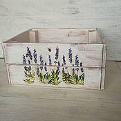 Для дома и интерьера handmade. Livemaster - original item Drawers: wooden, rack-and-pinion, with lavender. Provence. Handmade.