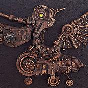 """Картины и панно ручной работы. Ярмарка Мастеров - ручная работа Стимпанк-панно """"Механический пеликан"""" 3. Handmade."""