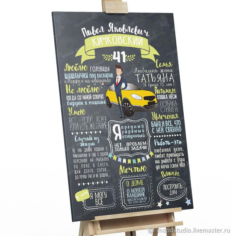 Подарок на юбилей Постер/плакат достижений для взрослого день рождение, Аксессуары для фотосессий, Хабаровск, Фото №1