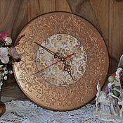 """Для дома и интерьера ручной работы. Ярмарка Мастеров - ручная работа """"Бронзовый век""""часы настенные. Handmade."""