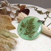 Украшения handmade. Livemaster - original item Pendant Leaf Translucent Green Leaf Eco Botanica. Handmade.