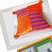 """Подушки ручной работы. Ярмарка Мастеров - ручная работа Комплект """"Оранжик"""". Дек подушка + деревянная рама. Handmade."""