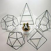 Для дома и интерьера handmade. Livemaster - original item Geometric vases, candlesticks-Pots. Handmade.