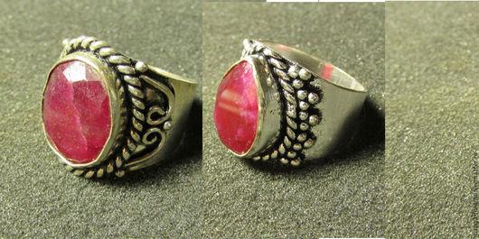 Кольца ручной работы. Ярмарка Мастеров - ручная работа. Купить (5видов)кольцо с рубином. Handmade. Рубин, посеребрение
