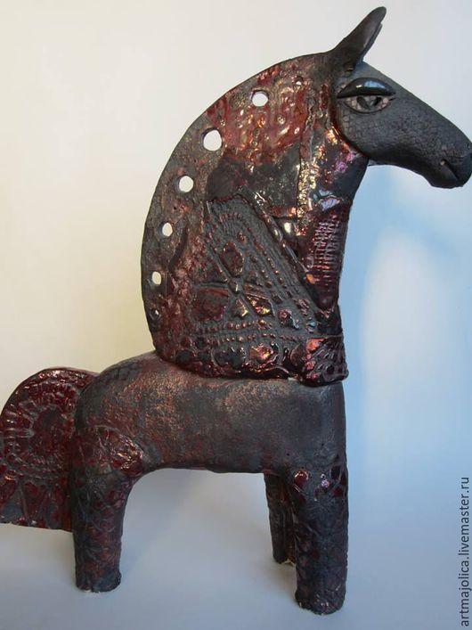 Статуэтки ручной работы. Ярмарка Мастеров - ручная работа. Купить Конь скульптура. Handmade. Конь, Керамика, статуэтка, интерьер