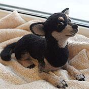 Куклы и игрушки ручной работы. Ярмарка Мастеров - ручная работа Чихуахуа. Игрушка собака из шерсти. Handmade.