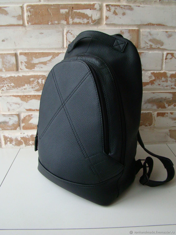 fac6ac9da12f Рюкзаки ручной работы. Ярмарка Мастеров - ручная работа. Купить Стильный  кожаный рюкзак / черный ...